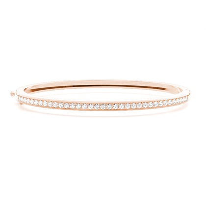 Pave Setting Round Diamond Bangle