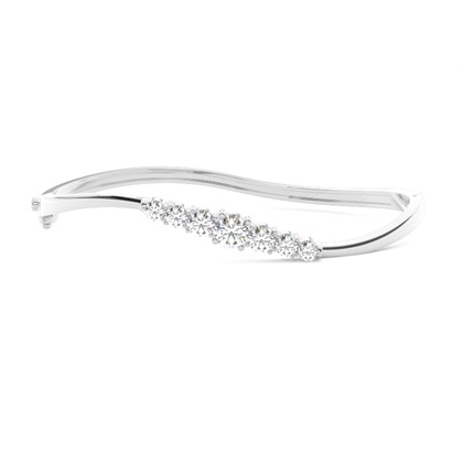 Bracelet jonc diamant rond serti 4 griffes 1.20ct - CLBG609_11