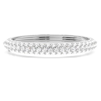 Bracelet jonc diamant rond serti 4 griffes 9.95ct - CLBG609_13