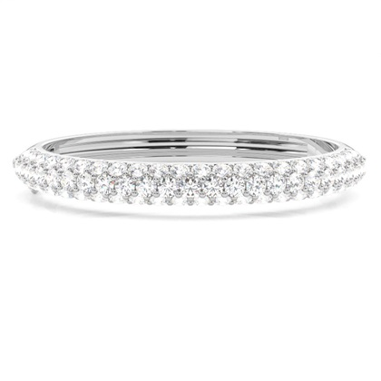 4 Prong Setting Round Diamond Bangle - CLBG609_13