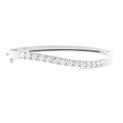 4 Prong Setting Round Diamond Bangle - CLBG609_16
