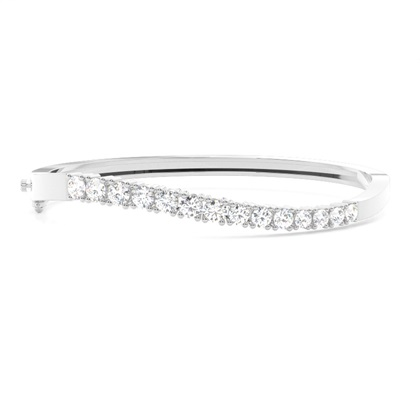 4 Prong Setting Round Diamond Bangle
