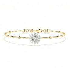 Prong Setting Round Diamond Everyday Bracelet