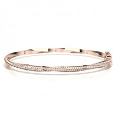 Prong Setting Round Diamond Evening Bracelet