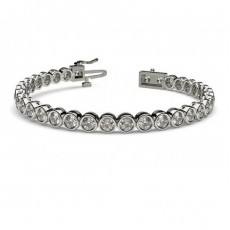 Full Bezel Setting Tennis Bracelet (Available from 2.15ct. to 12.35ct.)