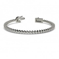 3 Prong Setting Tennis Bracelet