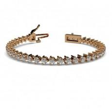 3 Prong Setting Tennis Bracelet - CLBR3_01
