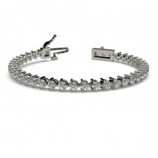 3 Prong Setting Tennis Bracelet - CLBR3_01