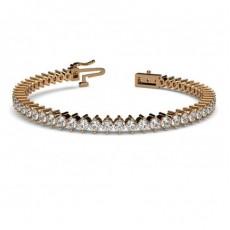 2 Prong Setting Tennis Bracelet - CLBR4_01