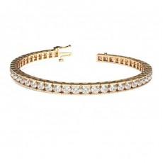 Channel Setting Tennis Bracelet - CLBR5_01