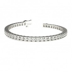 Channel Setting Tennis Bracelet - CLBR5_01