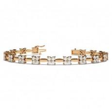 2 Prong Setting Round Diamond Designer Bracelet - CLBR7_01