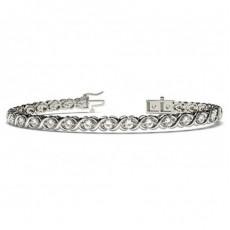 Bracelet tendance diamant rond serti 2 griffes - CLBR8_01