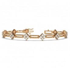 Rose Gold Designer Diamond Bracelet
