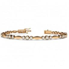 Full Bezel Setting Round Diamond Designer Bracelet - CLBR10_01