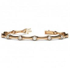 Round Rose Gold Designer Bracelet