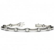 Full Bezel Setting Round Diamond Designer Bracelet - CLBR12_01