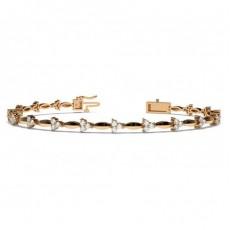 Rose Gold Evening Diamond Bracelets