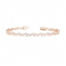 Full Bezel Setting Round Diamond Designer Bracelet - CLBR14_01
