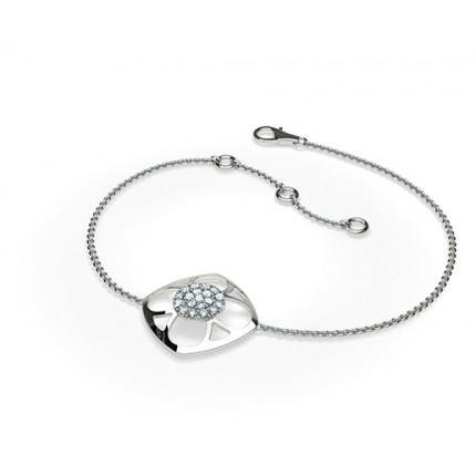 0.25ct. Prong Setting Round Diamond Delicate Bracelet