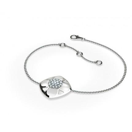 Rundes Petite Diamantarmband in einer Krappenfassung