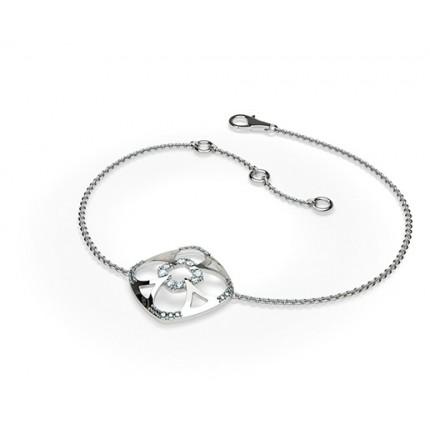 Rundes Petite Diamantarmband in einer Pavefassung