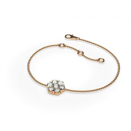 0.50ct. Pressure Setting Round Diamond Delicate Bracelet
