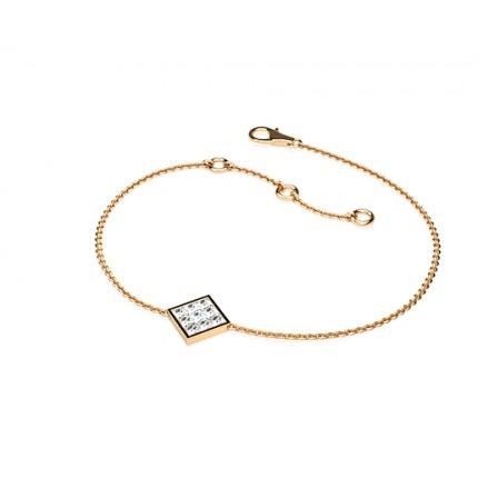 0.20ct. Invisible Setting Princess Diamond Delicate Bracelet