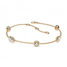 bracelets diamant or rose