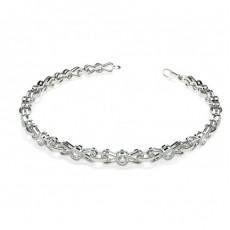 Full Bezel Setting Round Diamond Designer Bracelet - CLBR16_12