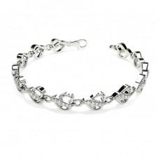Pave Setting Round Diamond Designer Bracelet - CLBR16_10