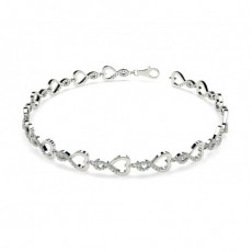 Pave Setting Round Diamond Designer Bracelet - CLBR16_11