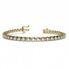 S-Link Round Diamond Tennis Bracelet - CLBR18_01