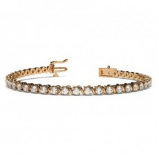 Rose Gold Diamond Tennis Diamond Bracelets
