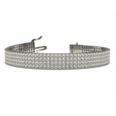 4 Row Prong Set Diamond Tennis Bracelet