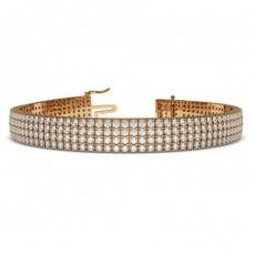 Round Rose Gold Bracelets