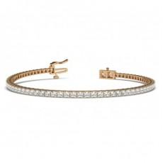 Prong Setting Princess Diamond Tennis Bracelet - CLBR28_01