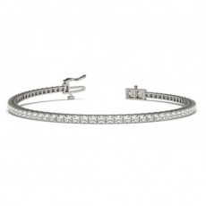 Prong Setting Princess Diamond Tennis Bracelet - CLBR28_01