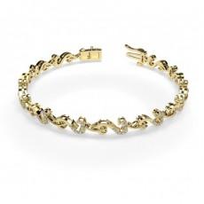 Gelbgold Diamant Armbänder