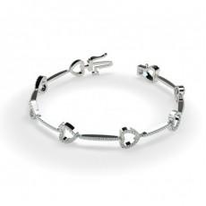 Pave Setting Round Diamond Designer Bracelet - CLBR31_01