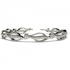 Runde Diamanten pave gefasst in einem designer Armband - CLBR33_01