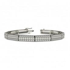 Runde Diamanten Krappen gefasst in einem designer Armband - CLBR35_01