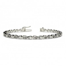 Channel Setting Round Diamond Designer Bracelet - CLBR39_01