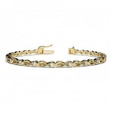 Channel Setting Round Diamond Designer Bracelet - CLBR39_01