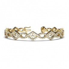 Prong Setting Round Diamond Designer Bracelet - CLBR41_01