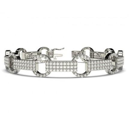Runder Diamant Designer Armband in einer Krappenfassung
