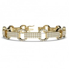 Prong Setting Round Diamond Designer Bracelet - CLBR54_01