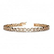Prong Setting Round Diamond Designer Bracelet - CLBR55_01