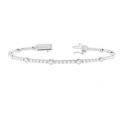 4 Prong Setting Round Diamond Tennis Bracelet