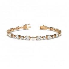 Mixed Shapes Rose Gold Tennis Bracelet